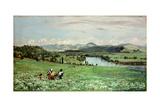 Along the Rhine Near Saeckingen, 1873 Art by Hans Thoma
