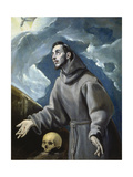 Saint Francis of Assisi Recives the Stigmata Prints by  El Greco