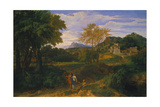 Classical Landscape, Probably 1660s Giclee Print by Jean-François Millet