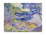 Coastal Landscape, (Le Cap Layet, Petite Version), Um 1904 Posters by Henri Edmond Cross