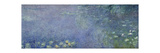 Left Centre Piece of the Large Water Lily Painting in the Musée De L'Orangerie Giclee Print by Claude Monet