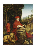 St. Jerome Reading Giclee Print by Lucas Cranach the Elder