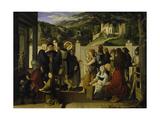 St, Roch Giving Alms, 1817 Giclee Print by Julius Schnorr von Carolsfeld