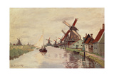 Windmill in Holland, 1871 Giclee Print by Claude Monet