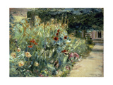 Flower Bed in the Artist's Garden on Lake Wannsee, 1923 Giclee Print by Max Liebermann
