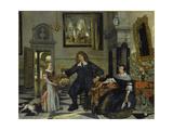 Family Portrait, 1678 Giclee Print by Emanuel de Witte