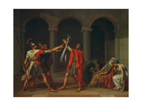 The Oath of Horatii, 1784 Giclee Print by Jacques Louis David