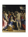The Incredulity of St, Thomas, C. 1547 Giclée-tryk af Francesco Salviati