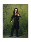 Nicolo Paganini, after 1830 Giclee Print by Georg Friedrich Kersting