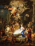 The Nativity, 1741 Gicléedruk van Franz Christoph Janneck