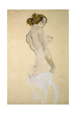 Standing Female Nude with White Shirt, 1912 Giclee Print by Egon Schiele