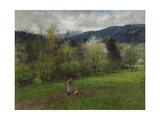 Upper Bavarian Landscape Giclee Print by Johann Sperl