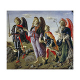 Tobias and the Three Angels Giclee Print by Francesco Botticini