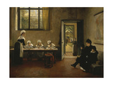 The Arrival at the Orphanage, 1879 Giclee Print by George Adolphus Storey