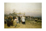 Easter Procession in Hungary Giclee Print by Lajos Deák-Ebner