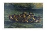 The Shipwreck of Don Juan, 1840 Reproduction procédé giclée par Eugène Delacroix