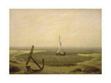 Evening at Low Tide Giclee Print by Caspar David Friedrich