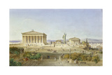 The Acropolis of Athens in the Time of Pericles 444 BC. 1851 Giclee Print by Ludwig Lange