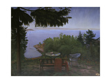 Summer Night at the Oslofjord, 1926 Giclee Print by Harald Sohlberg