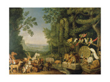 The Conference of the Animals From: Reynard the Fox Giclee Print by Johann Heinrich Wilhelm Tischbein
