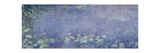 Right Centre Piece of the Large Water Lily Painting in the Musée De L'Orangerie Giclee Print by Claude Monet