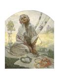 Bohemian Sun Dreamer Prints by Alphonse Mucha