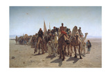 A Procession of Pilgrims on their Way to Mecca, 1861 Giclee Print by Léon Adolphe Auguste Belly
