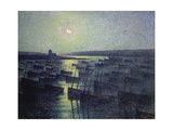 A Moonlit Harbour Prints by Maximilien Luce
