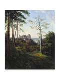 The Castle Colditz, 1828 Giclee Print by Ernst Ferdinand Oehme
