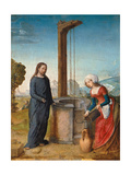 Christ and the Samaritan Woman at the Well Giclee Print by  Johann