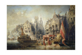 The Arrival of Fernando Alvarez De Toledo, Duke of Alba at Rotterdam in 1567, 1844 Giclee Print by Jean-Baptiste Isabey