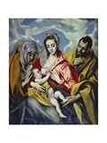 The Holy Family with Saint Anne, C. 1595 Posters by  El Greco