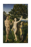The Fall of Man, (Left Panel of a Diptych) Giclee Print by Hugo van der Goes