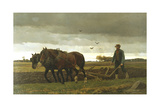 The Ploughman, 1880 Giclee Print by Frants Henningsen