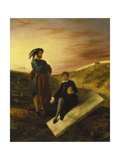 Hamlet and Horatio in the Cemetery, 1835 Giclee Print by Eugène Delacroix