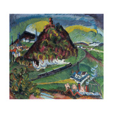 Koenigstein with Railway Giclee Print by Ernst Ludwig Kirchner
