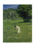 In the Meadow, 1876 Prints by Hans Thoma