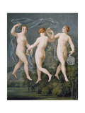The Three Graces Giclee Print by Johann Heinrich Wilhelm Tischbein