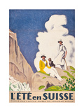 L'Ete En Suisse, Poster by the Swiss Office of Tourism, 1921 Gicléetryck av Emil Cardinaux