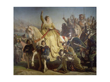 Queen Elizabeth of England Takes Review in Face of the Spanish Armada, 1588 Giclee Print by Ferdinand Piloty