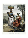Negro Women of Rio-Janeiro, from 'Picturesque Voyage to Brazil', Published, 1835 Giclee Print by Johann Moritz Rugendas