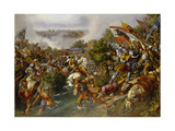 Battle of St, Jakob, 1838 Giclee Print by Hieronymus Hess