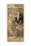 Flirt - Biscuits Lefevre-Utile, Ca, 1895 Giclee Print by Alphonse Mucha