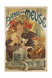 Meuse Beer, 1897 Giclée-tryk af Alphonse Mucha