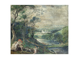 Venus and Adonis in Wooded Landscape Near Beersel Castle Giclee Print by Niederländischer Meister