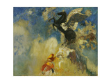 The Black Pegasus, 1909-1910 Giclee Print by Odilon Redon