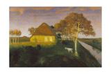 Moorkate at Sunset, 1899 Gicléetryck av Otto Modersohn