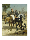 Welcome of an Explorer in an African Village (An Exotic Visitor), 1857 Poster by Jules Didier