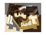 Guitar and Clarinet, 1920 Gicléedruk van Juan Gris