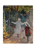 Young Girls Playing in the Garden Giclee Print by Henri Lebasque